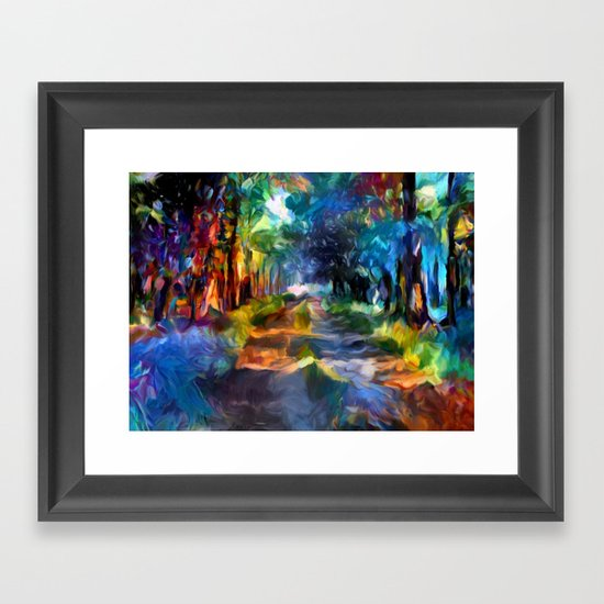 Route coloré Framed Art Print