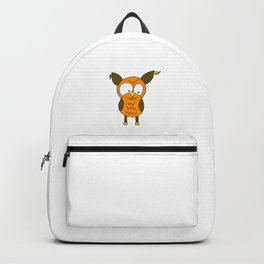 Lovely and funny looking owl Backpack