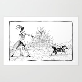 "Planet Chtulhun- "" Possessed pyramid"" Art Print"