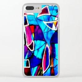 Blue Love Clear iPhone Case