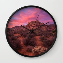 Sunrise at Red Rock Wall Clock