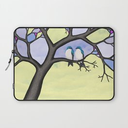 tree swallows in the stained glass tree Laptop Sleeve
