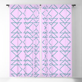 Fun Geometric Line and Shape Pattern in Lavender Blackout Curtain