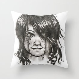 Babydoll by Kate Morgan Throw Pillow