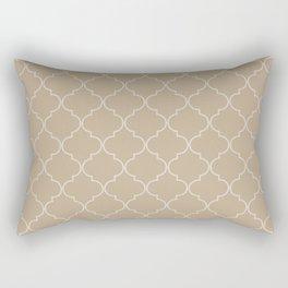 Warm Sand Quatrefoil Rectangular Pillow