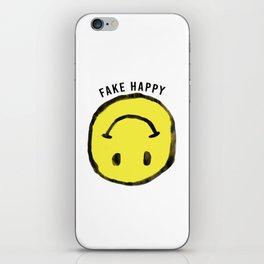 :( F A K E H A P P Y :) iPhone Skin