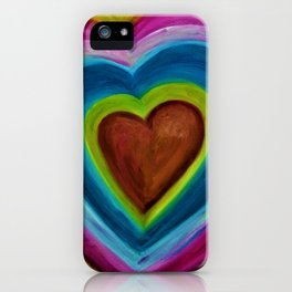 EXPANDING HEART iPhone Case