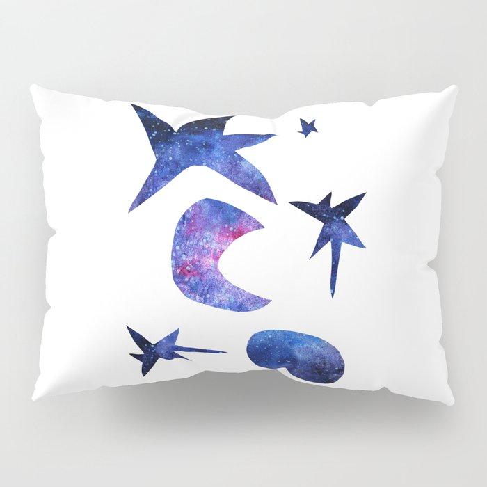 watercolor space pattern Pillow Sham