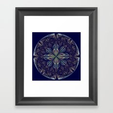 Fantasy flower bud opening up, fractal abstract Framed Art Print