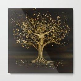 Golden Tree Goddess  Metal Print