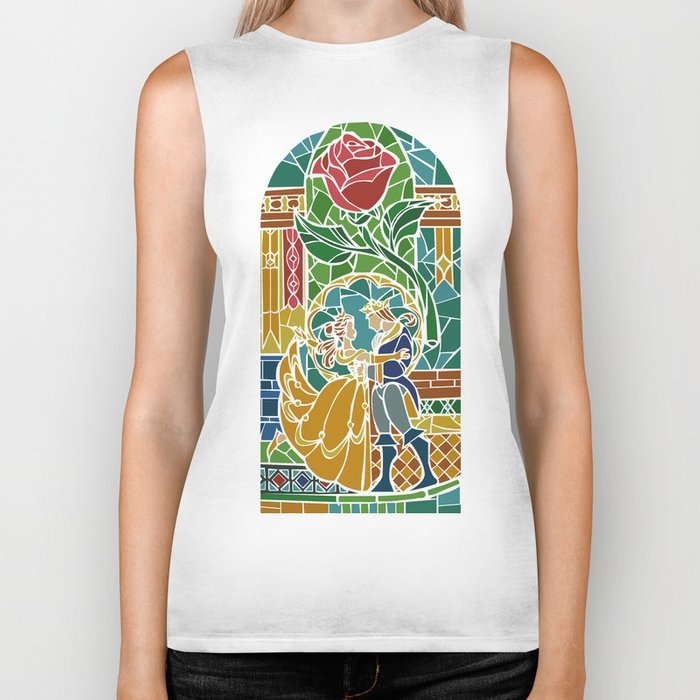 Beauty and The Beast - Stained Glass Biker Tank