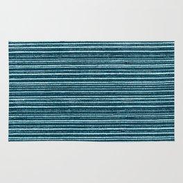Teal watercolor brushstrokes geometrical stripes Rug