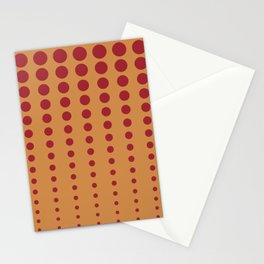 Dark Orange & Red Reduced Polka Dot Pattern 2021 Color of the Year Satin Paprika and Warm Caramel Stationery Cards