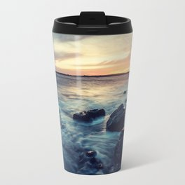 Sunset on the Breakwater Travel Mug