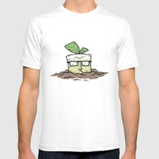 Square Root Mens Fitted Tee White SMALL
