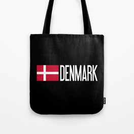 Denmark: Danish Flag & Denmark Tote Bag