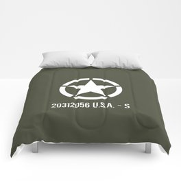 Vintage WWII ETO Star Comforters