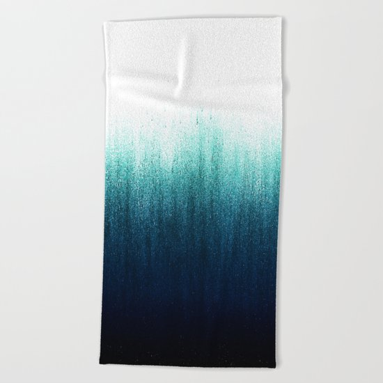 Teal Ombré Beach Towel