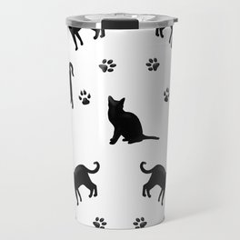 Black Cats Travel Mug