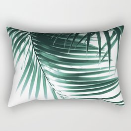 Palm Leaves Green Vibes #1 #tropical #decor #art #society6 Rectangular Pillow