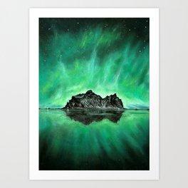 Aurora Island Art Print