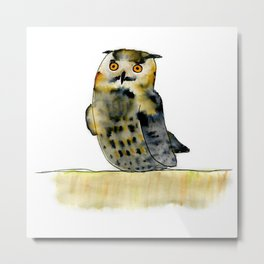 Edward the Eagle Owl Metal Print