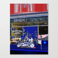 moto Canvas Prints featuring Moto by Davey Charles