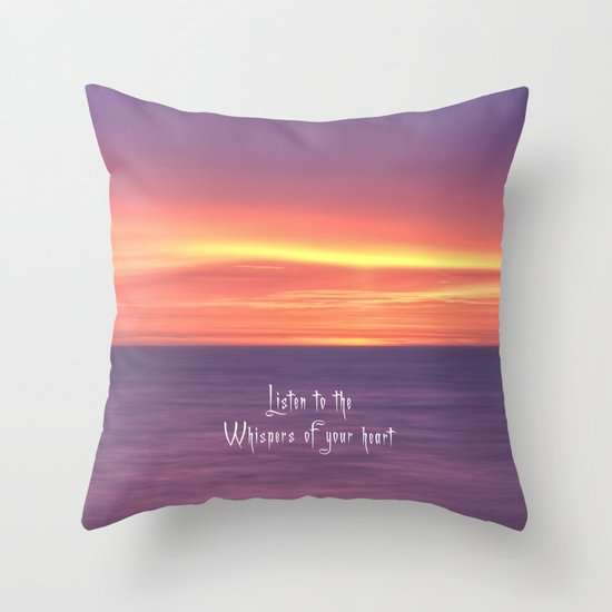 Whispers of your heart Throw Pillow