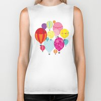hot air balloons Biker Tanks featuring Hot air balloons by Tat Georgieva
