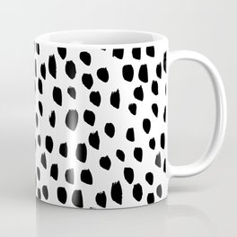 Hand drawn drops and dots on white - Mix & Match with Simplicty of life Coffee Mug