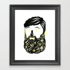 Space Beard Guy Framed Art Print