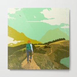 WARM TRAILS Metal Print