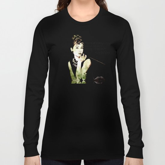 MISS GLOLIGHTLY - Breakfast at Tiffany´s - QUOTE Long Sleeve T-shirt