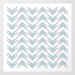 Sharp ZigZag Pattern Art Print