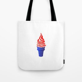 Stars, Stripes, Soft Serve Tote Bag