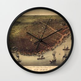 New Orleans 1885 Wall Clock