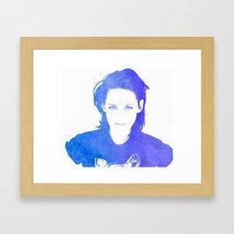 Kristen Stewart Watercolour Framed Art Print