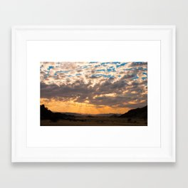 Big Sky Namibia Framed Art Print