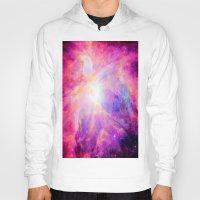 nebula Hoodies featuring Pink Purple Orion NebulA by 2sweet4words Designs