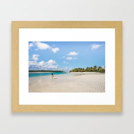 Enjoying the Cook Islands Framed Art Print