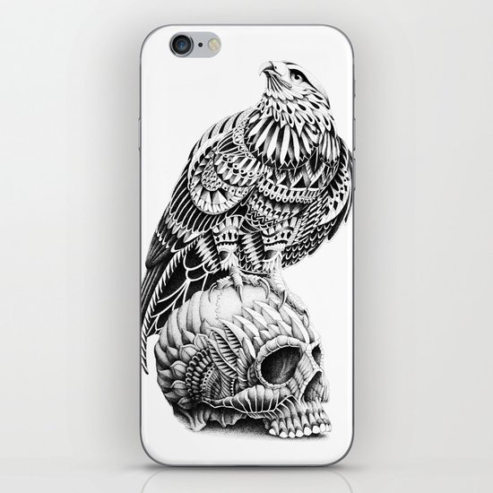 Red-Tail Skull iPhone & iPod Skin