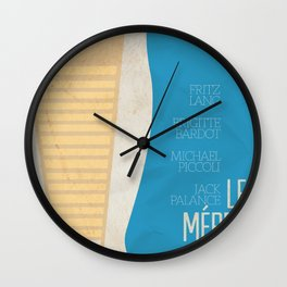 "Contempt, ""Le Mépris"" J.L Godard Alternative movie Poster, Brigitte Bardot, french cinema Wall Clock"