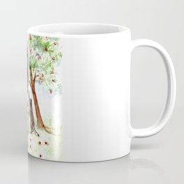 Cute Raccoons in the Orchard Coffee Mug