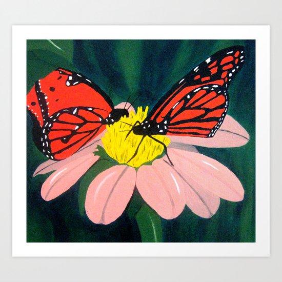 Double Butterflies Art Print