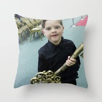 key Throw Pillows featuring Key by Faith Buchanan