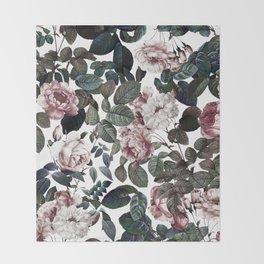 Vintage garden Throw Blanket