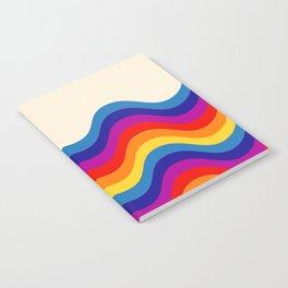 Wavy retro rainbow Notebook