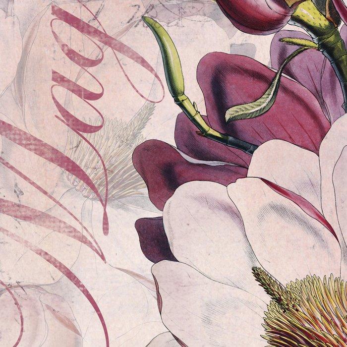 Vintage Magnolia flower illustration Leggings
