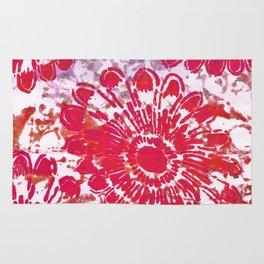 Large Pink Flower Rug