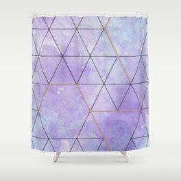 Purple Triangles Shower Curtain